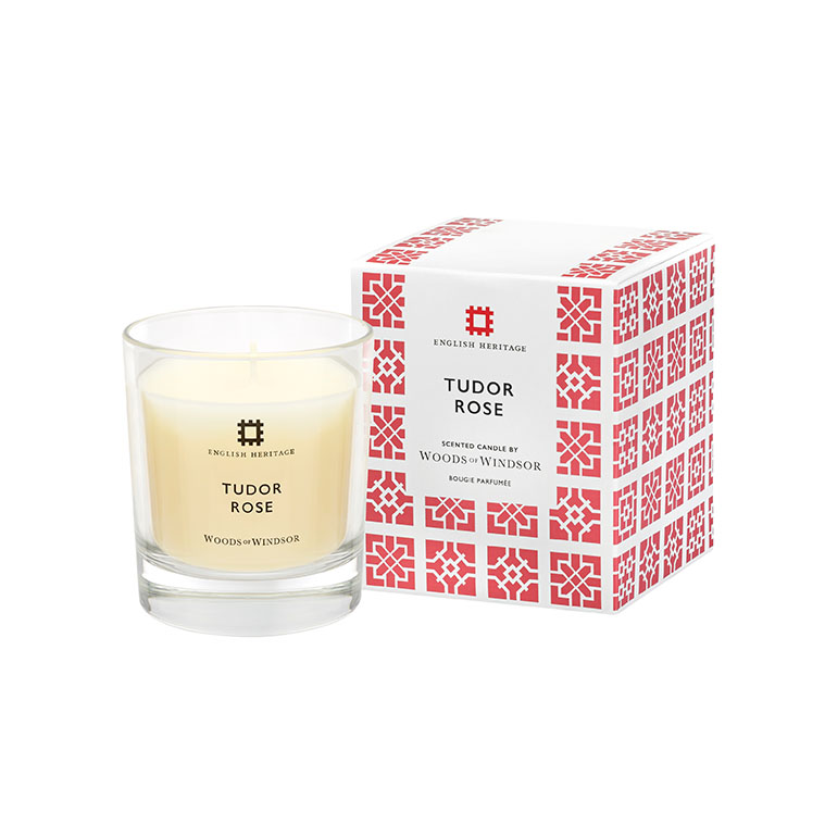 Tudor Rose Fragranced Candle